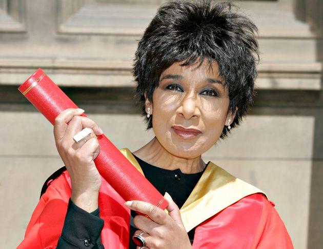 Moira Stuart receives an honorary degree at the McEwan Hall, Edinburgh University, Scotland. 14th July