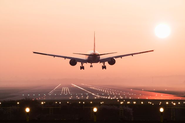 A passenger jet taking off from Gatwick Airport was involved in a near miss with a preceding aircraft...