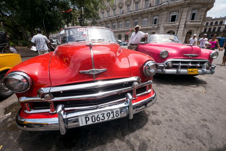 Havana is famous for its colourful vintage cars.