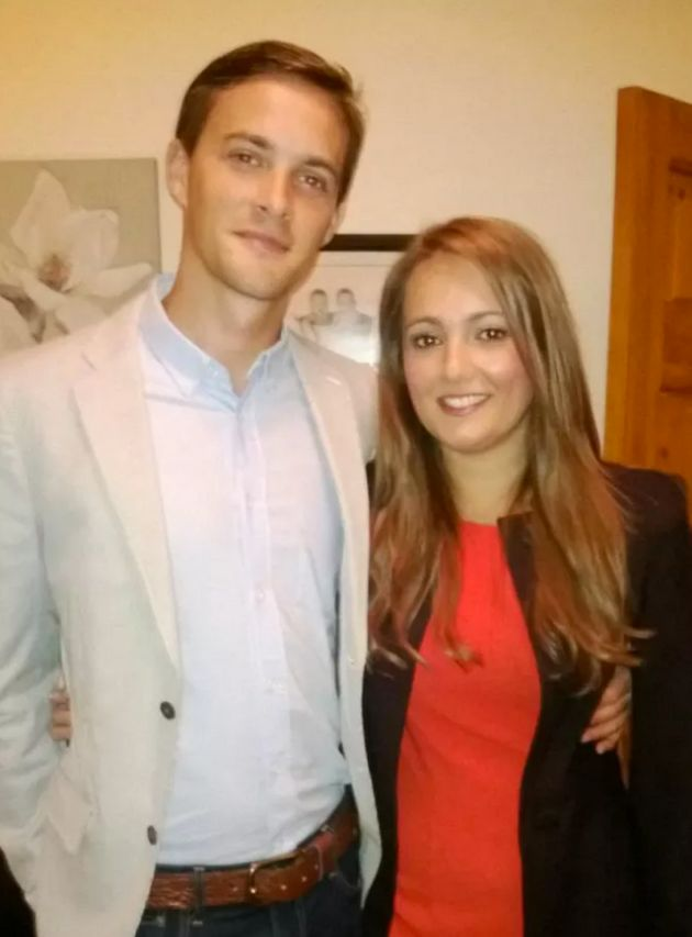 Trevor Timon has been charged with the murder ofOliver Dearlove, pictured with his girlfriend
