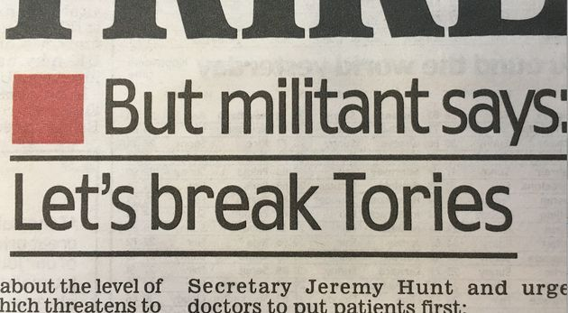 The Mail used 'militant' for one pro-strike