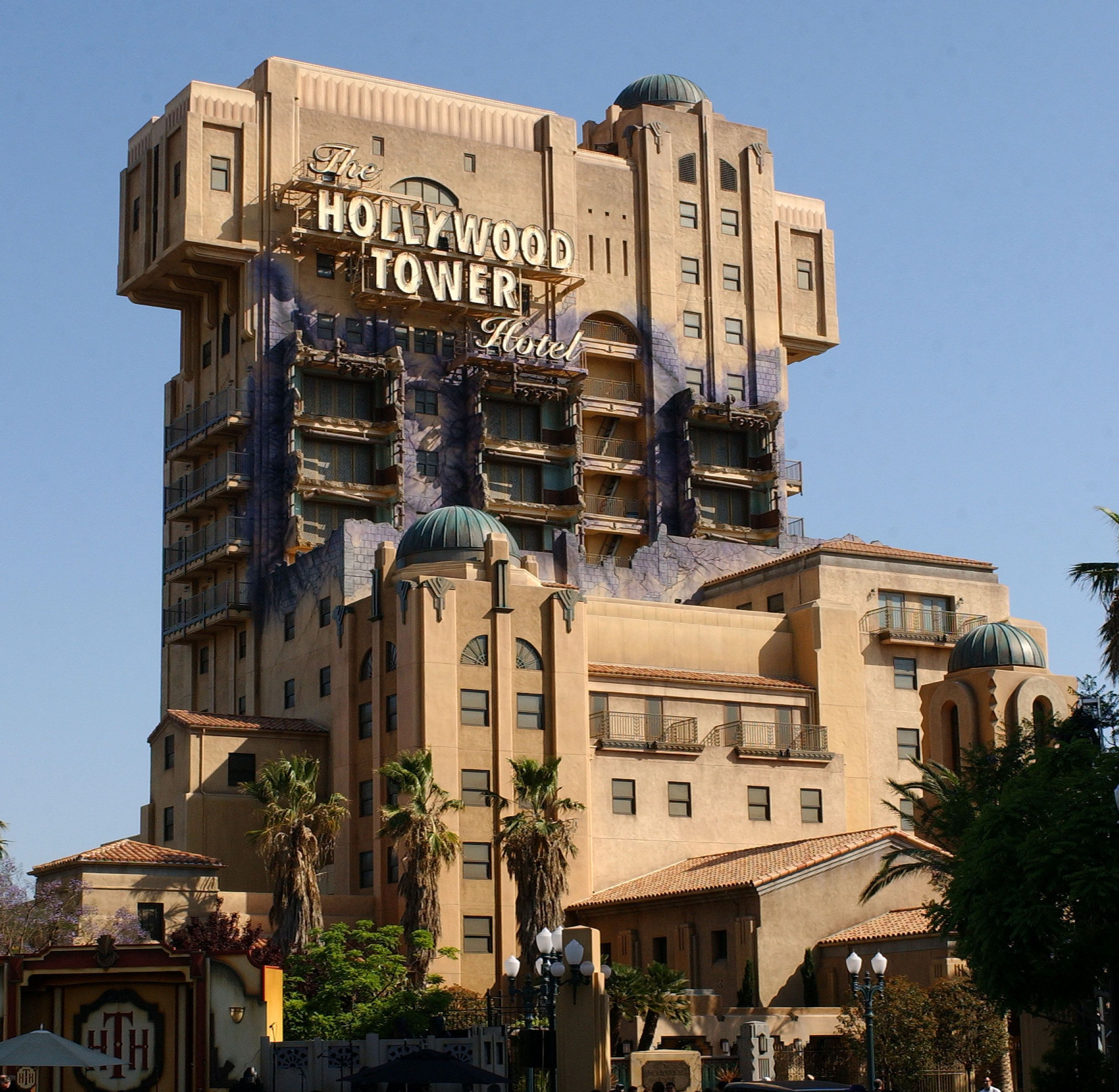 The Hollywood Tower Of Terror Hotel attraction during The Twilight Zone Tower of Terror Opens at Disney's California Adventure at California Adventure in Anaheim, California, United States. (Photo by Gregg DeGuire/WireImage)