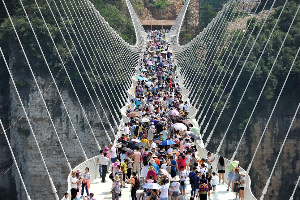 China's Record-Breaking Glass Bridge Is So Popular, It Had To Close
