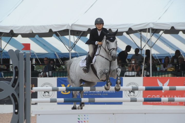 Mary-Kate Olsen competes at the Hampton Classic Horse Show on Tuesday.&nbsp;<br>