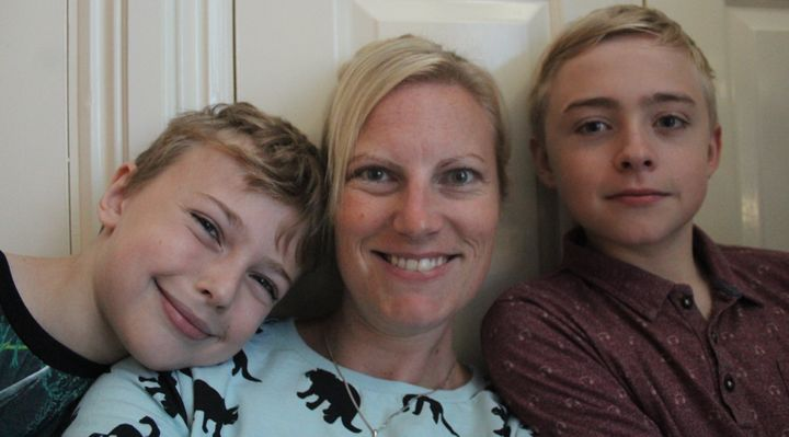 Jody and her sons Cameron and Harry.