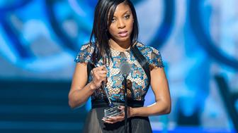 NEWARK, NJ - MARCH 28:  Recipient of the Change Agent award, Principal Nadia Lopez of Mott Hall Bridges Academy speaks onstage during 2015 'Black Girls Rock!' BET Special at NJ Performing Arts Center on March 28, 2015 in Newark, New Jersey.  (Photo by Gilbert Carrasquillo/FilmMagic)