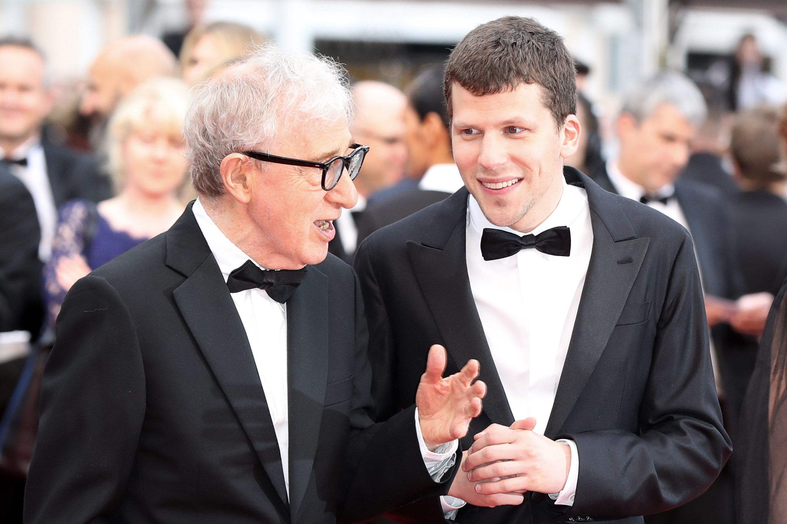 Jesse Eisenberg with Woody Allen, a man he has revered since he was a