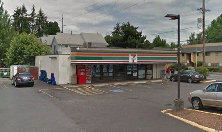 The 7-Eleven in Gresham where the incident occurred.