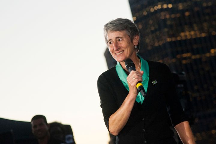 U.S. Secretary of the Interior Sally Jewell attends the 100th Birthday Of The National Park Service at Brooklyn Bridge Park o