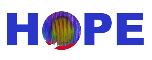 Richard Pyle created his own version of Obama's presidential campaign logo with a pattern from dorsal...