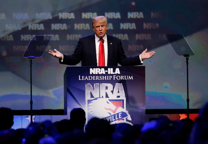 Donald Trump says he can protect people from gun violence.