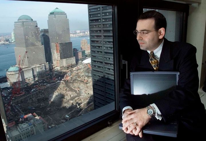 Adam Mayblum and the unsettling view from his temporary office after the 9/11 attacks.