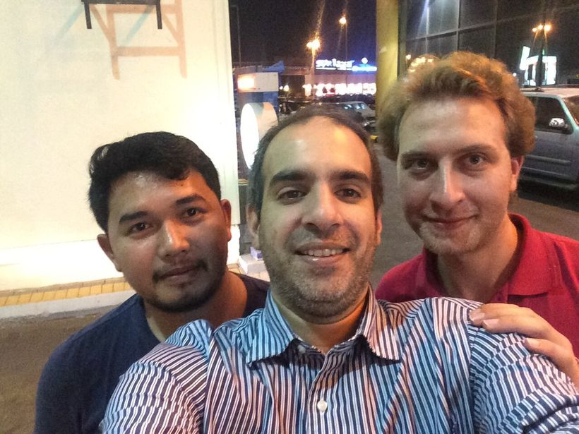 Me with my friends Mohammed (Lebanese) and Abed (Syrian)