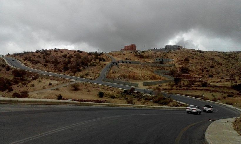 A road of Al Baha City while driving through its peaceful highway