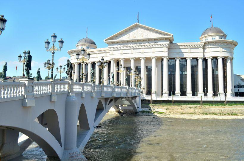 <i>The Stone Bridge in Skopje</i>