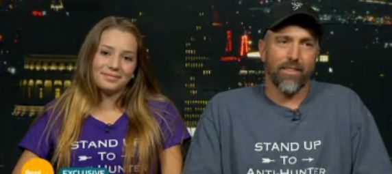 Aryanna Gourdin and her father