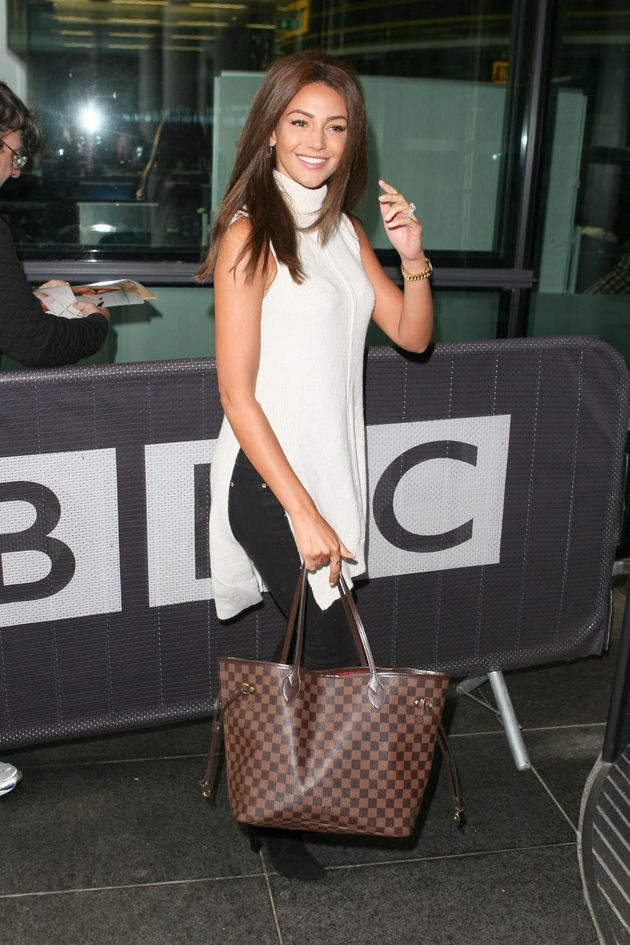 Michelle Keegan Ditches Blonde Hair For Stunning New