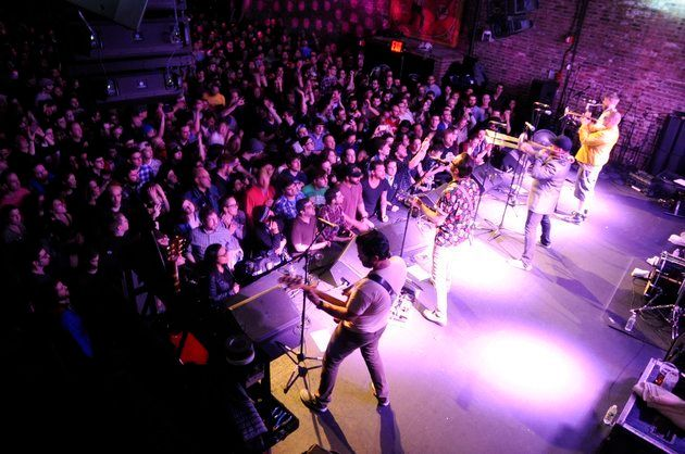 Reel Big Fish play to packed Brooklyn Bowl on February 2.