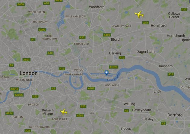 No flights are landing or taking off from London City