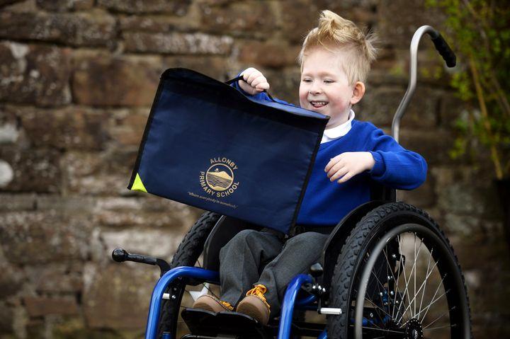 Noah Wall, 4, from Abbeytown near Wigton is starting school.