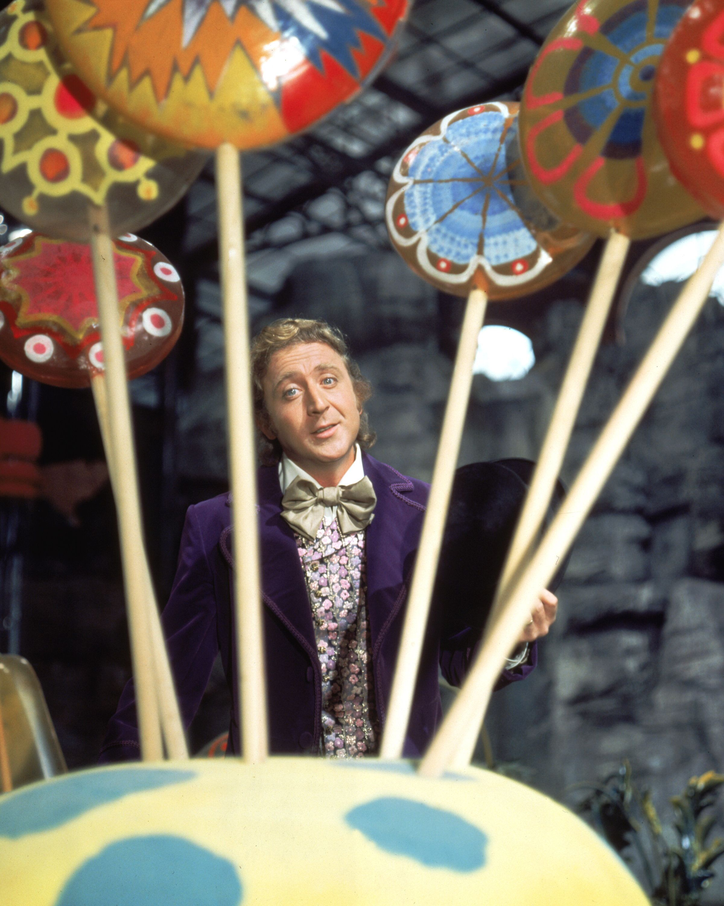Actor Gene Wilder as Willy Wonka on the set of the fantasy film 'Willy Wonka & the Chocolate Factory', based on the book by Roald Dahl, 1971.  (Photo by Silver Screen Collection/Getty Images)