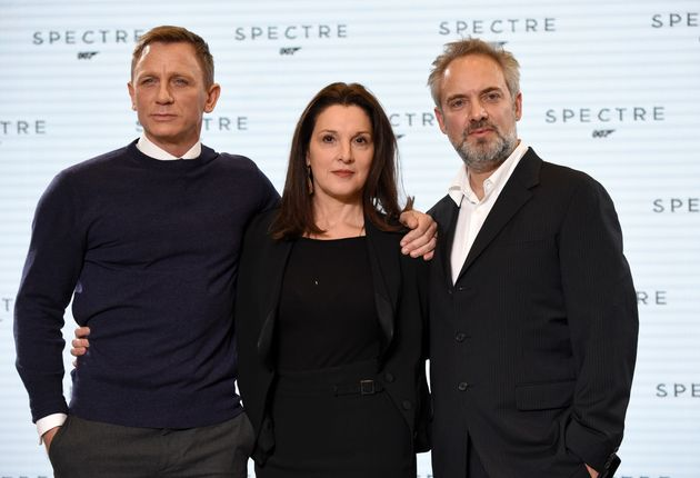 Barbara Broccoli with her record-breaking duo, Daniel Craig and Sam