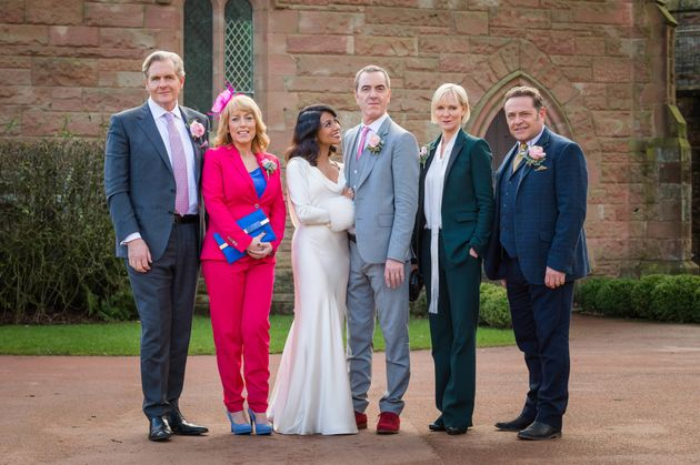 Adam Williams tied the knot as 'Cold Feet'