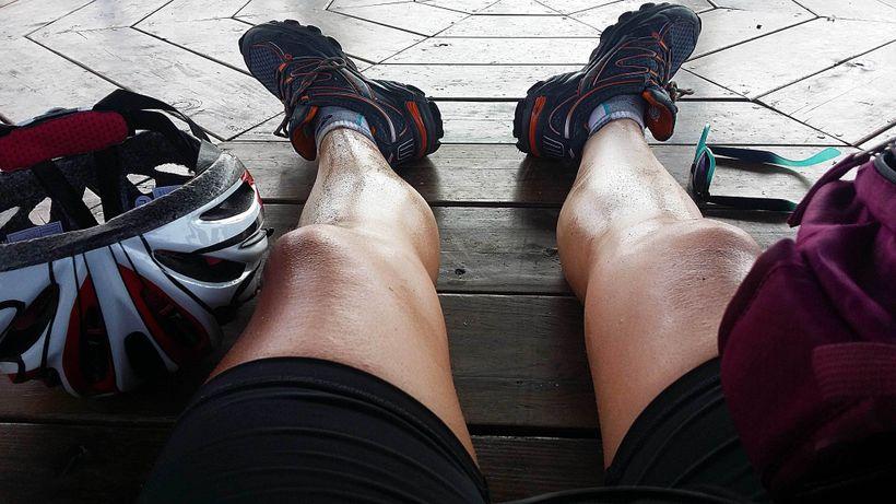 My legs on strike...