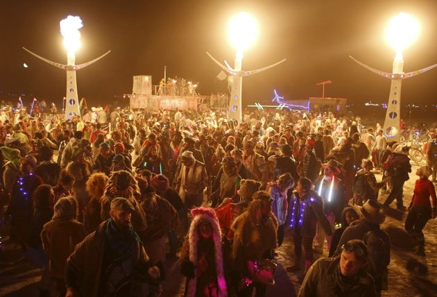 The Man goes up in flames as Burning Man nears an end