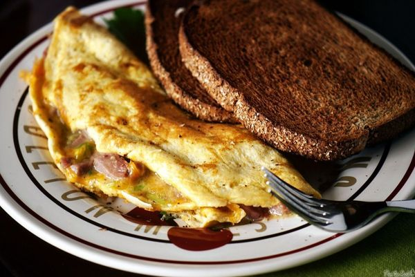 "<strong>Get the <a href=""http://passthesushi.com/prime-rib-omelet/"" target=""_blank"">Prime Rib Omelet recipe</a> from Pass The"