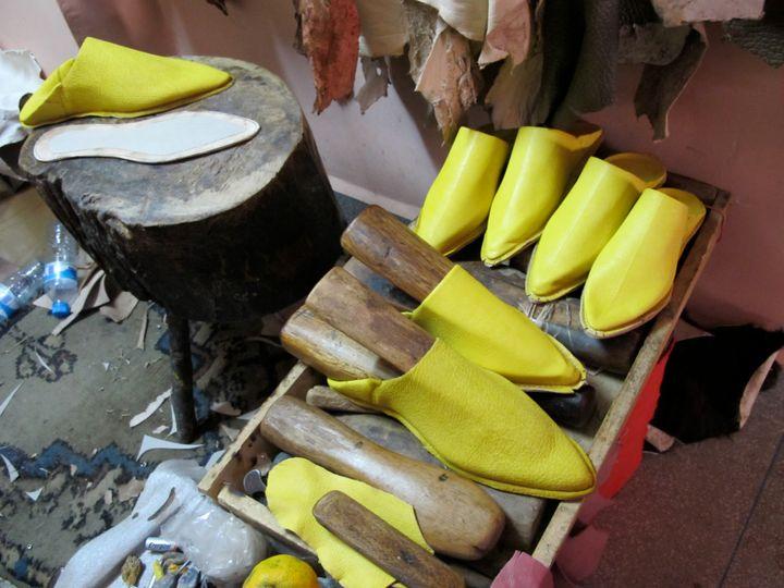"""<p><a rel=""""nofollow"""" href=""""http://goo.gl/VltrUH"""" target=""""_blank"""">Traditional handmade baboush slippers.</a></p>"""