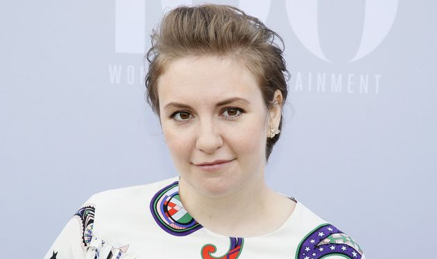 Lena Dunham poses at The Hollywood Reporter's Annual Women in Entertainment Breakfast in Los