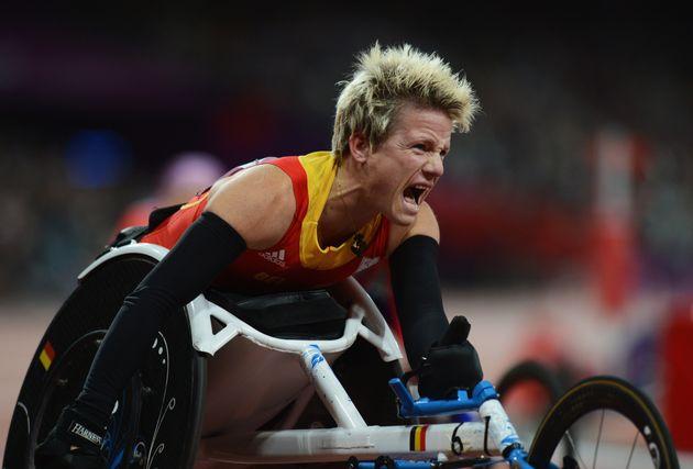 Vervoort celebratesas she wins gold at London