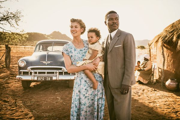 "Amma Asante tackled race dynamics in her gentle 2013 movie ""Belle."" She's back at it in ""A United Kingdom,"" one of two T"