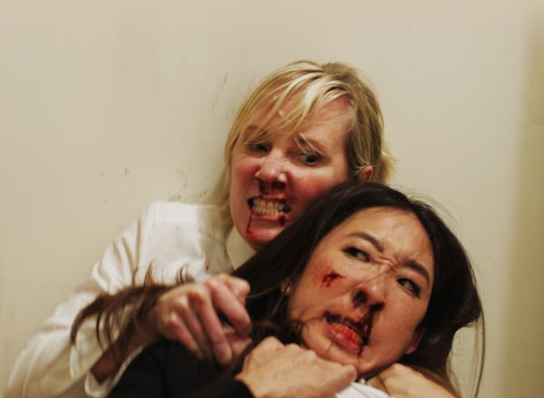 "The TIFF program compares the brawl at the center of ""Catfight"" to a ""martial-arts epic."" Said brawl involves Sandr"