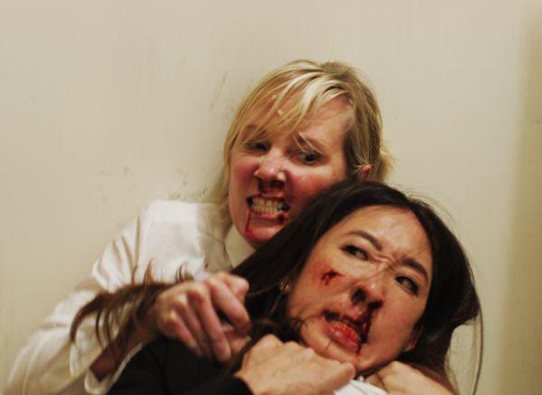 "The TIFF program compares the brawl at the center of""Catfight"" to a ""martial-arts epic."" Saidbrawl involves Sandr"