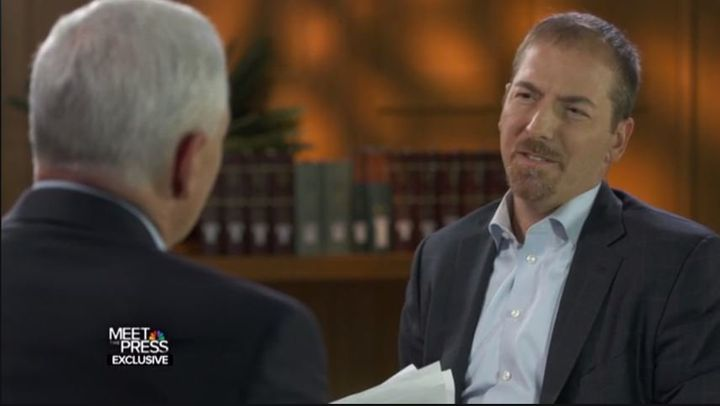 "Chuck Todd offers GOP vice presidential nominee Mike Pence his best ""Are you <i>sure you're sure</i> about this"" face."
