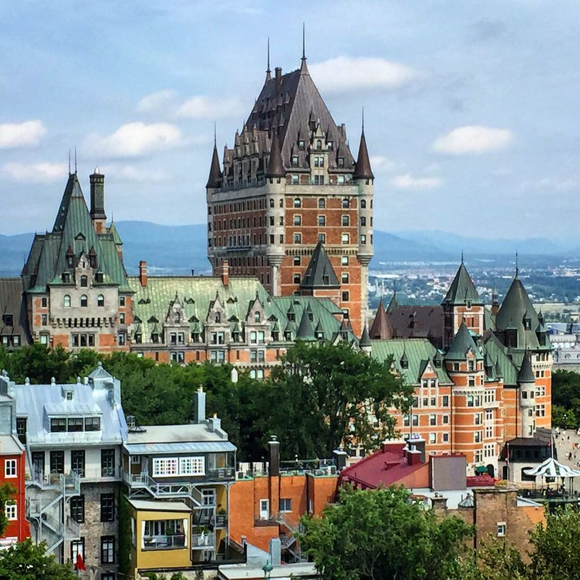 The most photographed hotel in the world hovers over Old Quebec