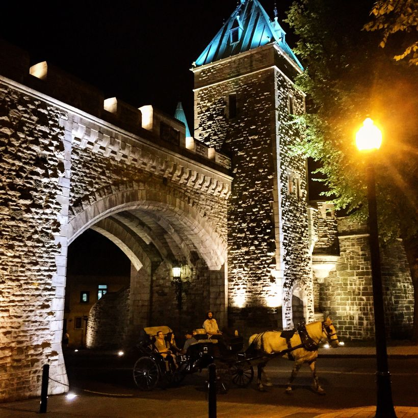 The walled city of Quebec can only be entered through four gates.