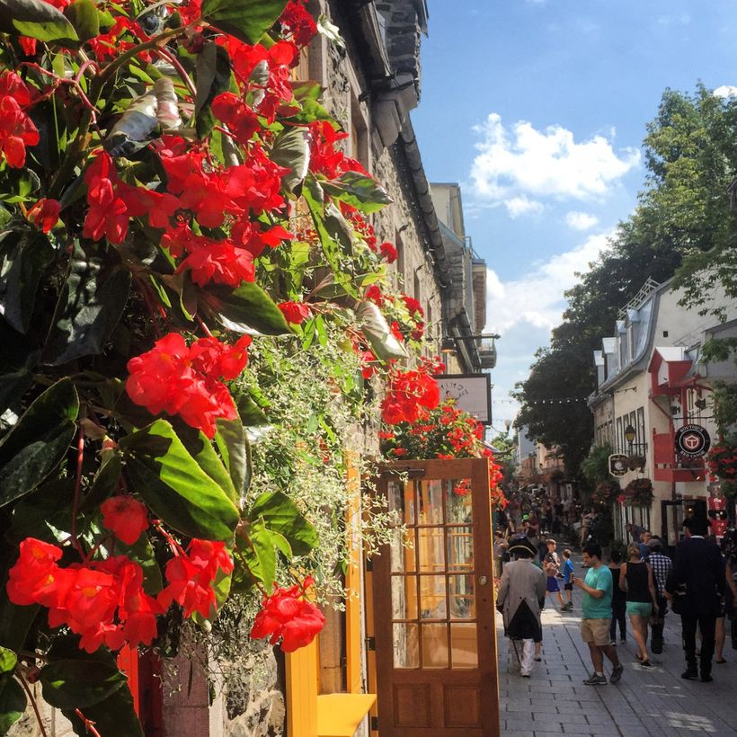 The lower town is a colorful place with flower boxes and painted doors and windows.
