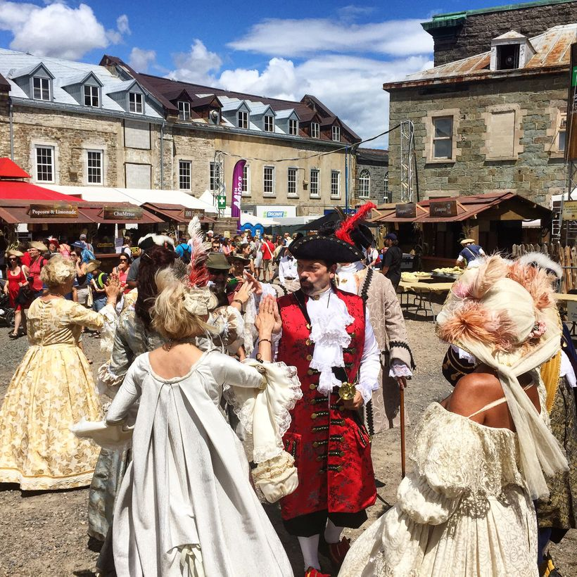The colorful New France Festival coming up August 9-13, 2017 celebrates the 17th and 18th centuries.