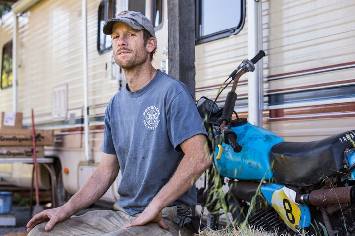 Cedar McCulloch-Clow, a goat farmer and volunteer firefighter, owns the property where Terri pitched her tent while doing tri