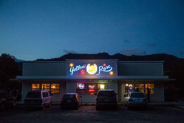 Marijuana trimmer Terri met local grower Kailan Meserve one night at the Yellow Rose bar in Petrolia, Calif., in 2014.