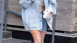 Kim Kardashian's Thigh-High, See-Through Boots Are The Stuff Of