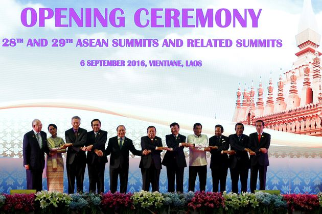 The opening ceremony of ASEAN Summit in Vientiane, Laos September 6, 2016. President Obama cancelled...
