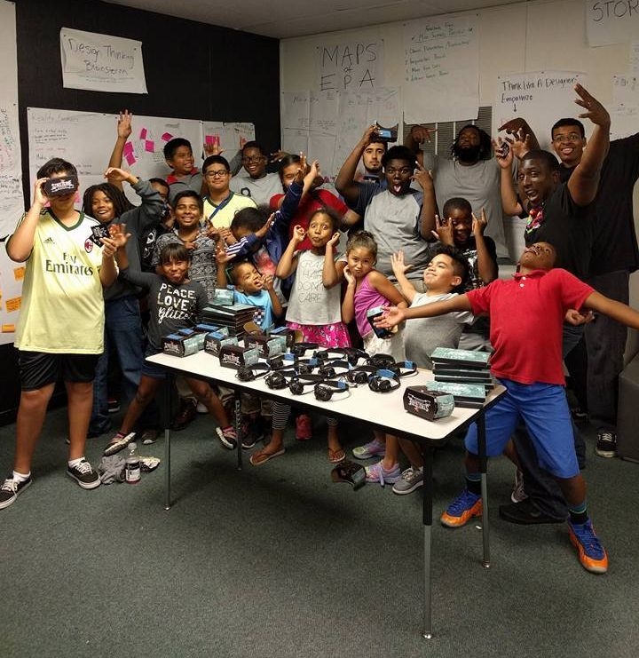 """<i>VR camp students iterating at """"The Dream Palace.""""&nbsp;</i>"""
