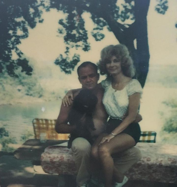 An undated Polaroid ofClemma and Sterling Elmore, who tied the knot in February 1959.