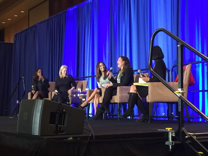 <i>Women for Hillary Fundraising Event on May 4 in Washington, D.C., featuring a panel discussion with Eva Longoria, NY Sen. Kirsten Gillibrand, NARAL president Ilyse Hogue, and Cheryl Mills.</i> &nbsp;