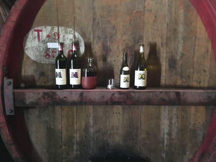 <p>Inside the barrel room at Mayacamas Vineyards, Mt Veeder, Napa</p>