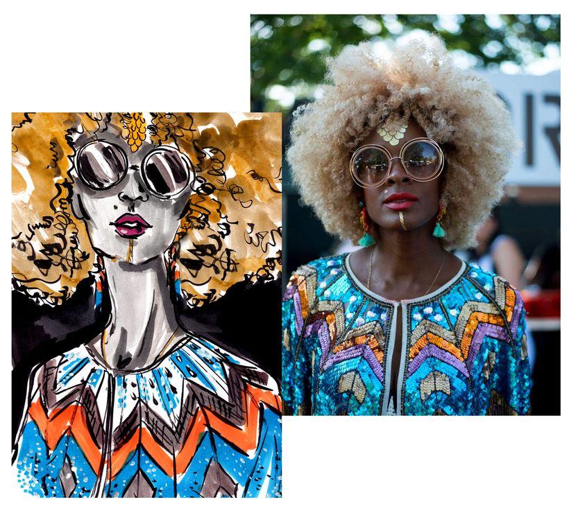 """Maureen Powel, model/blogger/stylist (<a href=""""https://www.instagram.com/maureenpowel/"""" target=""""_blank"""">@Maureenpowel</a>)"""